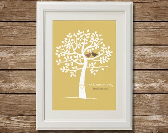 Couples Family Tree, Printable, Digital Download, Wedding Tree, Wedding Gift, Engagement Gift, Wedding Family Tree, Mr & Mrs