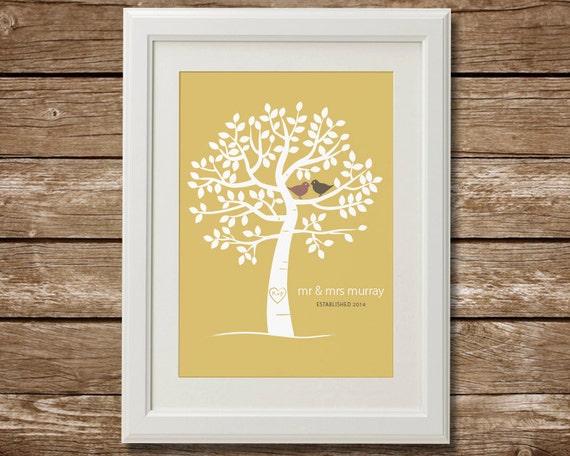 Couples Family Tree Printable Digital Download Wedding