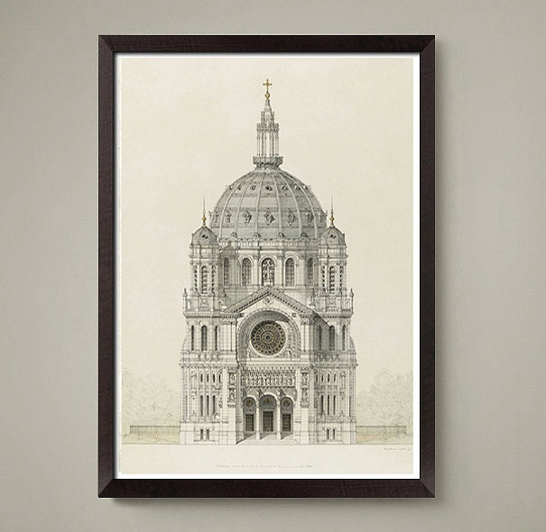 Italian Architectural Drawing Art Print Nice Home Or Office Decor A Wonderful Gift