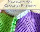 Crochet Newborn Hat Pattern - Baby Hat Pattern - Fun and Easy - Instant Download