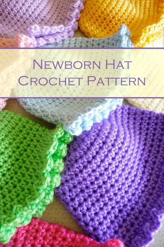 Newborn Single Crochet Hat Pattern : Buttercup Babies Easy Crochet Baby Hat Easy by ...