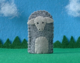 Sheep Finger Puppet - Felt Sheep Puppet - Felt Farm Animal Finger Puppet - Felt Puppet - Felat Animal Finger Puppet Lamb