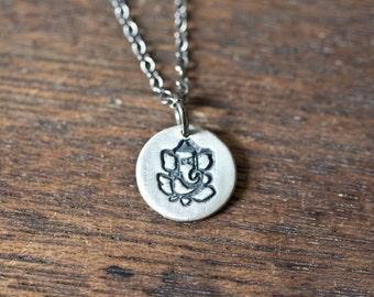 Ganesha Necklace, Ganesh Pendant, Ganesha Pendant, Boho Necklace, Tibetan Necklace, Ganesh Charm, Bohemian Jewelry, Elephant Necklace
