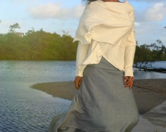 Isadora skirt. Hemp cotton jersey. Made to order.