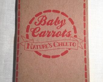 Baby Carrots: Nature's Cheeto Pocket Food Journal Diary