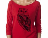 Women's Owl Sweatshirt Comfy Owls Clothing Cute Sweat Shirts Animal Print Bird Long Sleeve Tops Active wear for the gym Fall Fashion