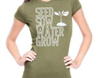 Womens Vegetable TShirt  Screen Printed Ladies Vegan Vegetatrian Clothing Veggies Gardening Farmers Market Shirt