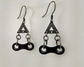 Bicycle chain link earrings