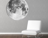 Huge Full Moon Vinyl Wall Decal 36 Inches Across
