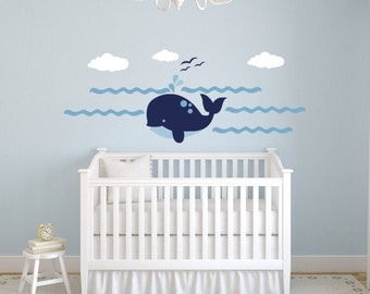 Happy Whale Wall Decal Set