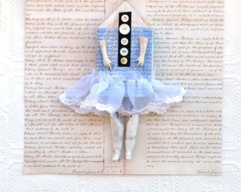 Assemblage Mixed Media Art Doll Willow