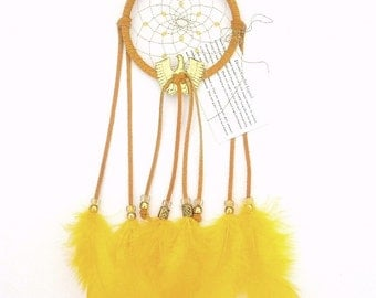 Gold Dream Catcher, Turkey Flat Feathers