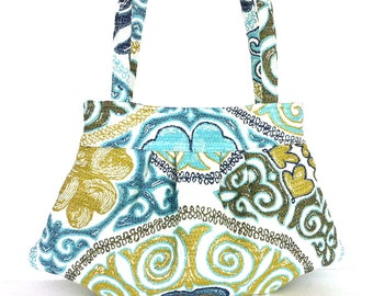 Tapestry purse Summer bag Multicolor cotton purse Vegan day bag Fashion bag Fabric bag Handmade purse , Fabric handbag  , Canadian seller