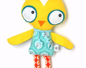 READY TO SHIP Owl Softie Stuffed Animal Doll for Children and Baby Plush Toy