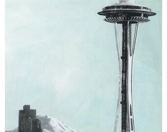 Seattle No. 67 - Fine Art 8.5x11 Print