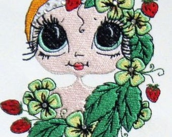 Bestie - Strawberry Mary Embroidery Design - 5x7 hoop