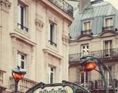 Paris Metro Sign, Paris Photography, Art Nouveau Architecture Art Print, Paris Print, Wall Art, Vintage Guimard - Metropolitain