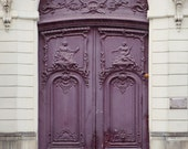 "Paris Photography, Purple Door Print, Fine Art Print, Old Door, French Home Decor, Paris Art, Architecture, Purple Art ""Ultra Violet"""