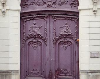 """Paris Photography Print, Purple Door Print, French Home Decor, Paris Art Print, Architecture, Purple Art """"Ultra Violet"""""""