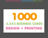 Business Card Design and Printing 1000 Full Color Business Cards with Custom Design