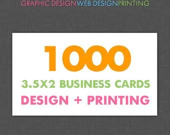 Business Card, Design and Printing, 1000 Business Cards Printed, Custom Design and Printing, Offset Printing, Full Color, UV Glossy, Matte