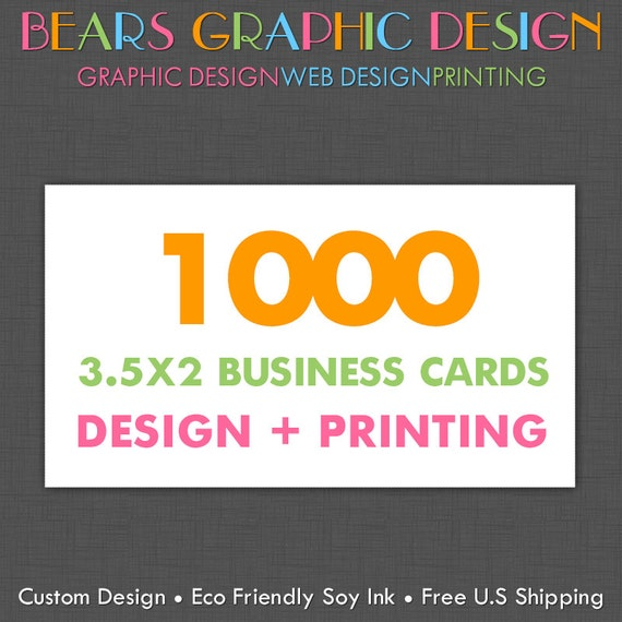 Business card design and printing 1000 business cards for Business cards 1000