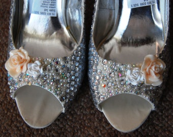 hand covered Diamante Shoes