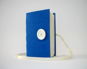 Blue journal notebook Handmade journal lined journal Blue white journal notebook writing journal diary agenda journal diary blue fabric