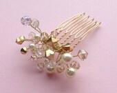 Aurora Comb - Bridal Hair Comb - Swarovski Crystal Beaded Comb - Gold Comb - Prom