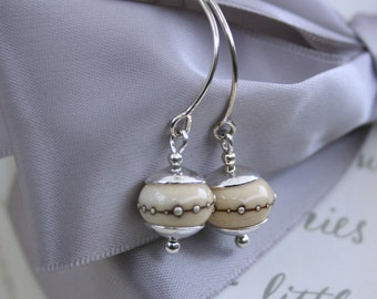 Lampwork bead and Sterling earrings