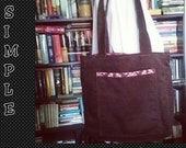 FREE SHIPPING Espresso Raspberry Shopper Pink Mocha Brown Market Tote Everyday Bag/Original Simple Panache Shopper