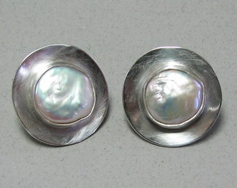Wedding Cufflinks, Sterling silver cufflinks, pearl cufflinks, freshwater pearl, silver cufflinks, cufflinks,handmade cufflinks, baroque