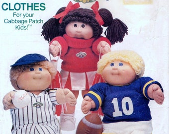 Butterick 6827 CABBAGE PATCH KIDS Sports Costumes 1984 also issued as Butterick 340