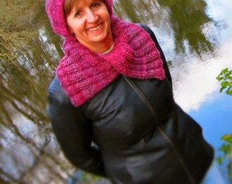 Cabled Slouch Hat and Ribbed Neckwarmer Knitting PATTERN