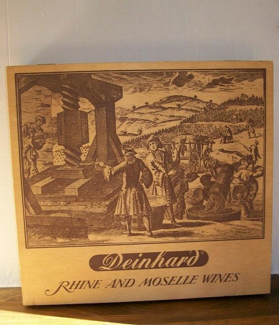 Vintage wooden deinhard wine box wood by aletafordbakerdesign for Deinhard wine