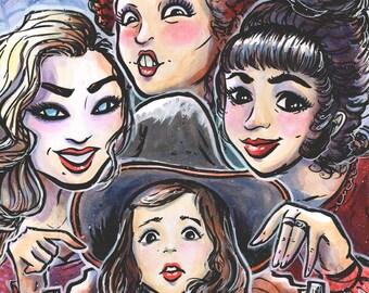 HOCUS POCUS - Sanderson Sisters - Salem Witches Print