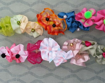 Dog Grooming Bows Assortment -20 round bows - 10 pairs
