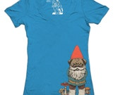 Womens Pug Gnome Tshirt, Puppy, Dog, Pugs, Cute Funny Animal Shirt, Deep V-Neck, Women's Tee, T-Shirt, Gift for her, Sizes Available S-2XL