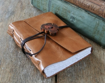 Leather Journal . THE POET - Edna St. Vincent Millay quote . handmade handbound . honey brown (320 pgs)