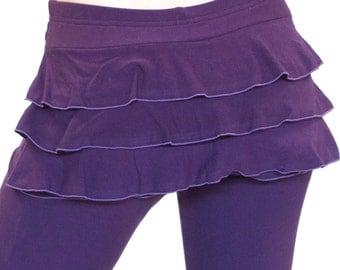 Yoga Skirt Dance Coverup Mini Skirt -  BUSTLE SKIRT - ruffle skirt, yoga skirt, festival clothing