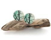 Large Tree Stud Earrings, Big Earring Studs 18mm, Unisex Earrings, Mens Stud Earrings, Tree Jewelry, Hypoallergenic Nickel-Free Earrings