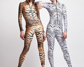 Tiger or Zebra Bodysuit for Awesome Halloween Fun