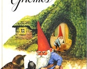 Book of Gnomes 70s vintage Book The pop up book of Gnomes Adorable Woodland book Gnomes at home