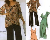 Khaliah Ali fashion pattern Plus size top skirt and pants sewing pattern Simplicity 5107 Sz 26W to 32 W Summer wardrobe pattern