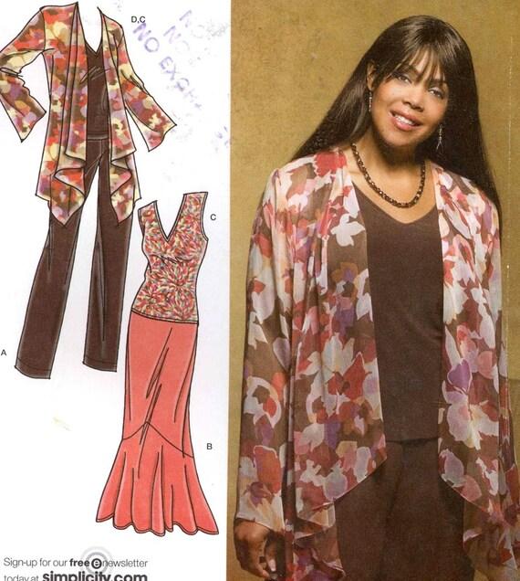 Khaliah Ali Collection Patterns Simplicity 3894 Tops Skirt Etsy