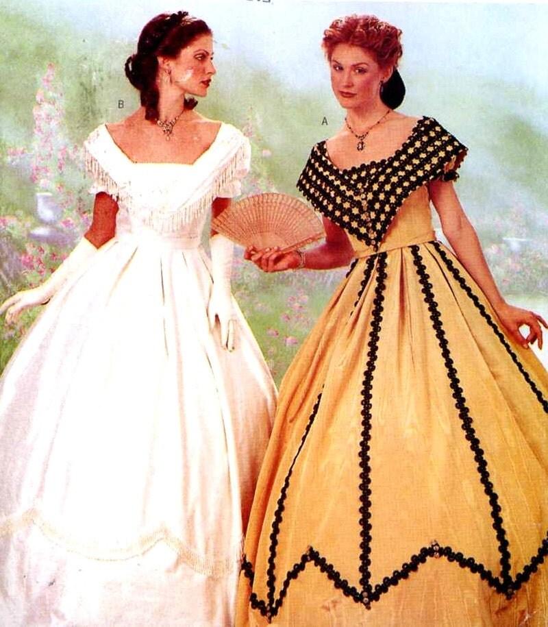 Renaissance Wedding Dress Costume History Mccall S By Heychica: Southern Belle Wedding Civil War Era Historical Costume