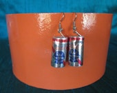 Pabst Beer Can Earrings