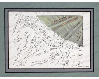 Chuckwalla Lizard Papercutting- Handcut Original