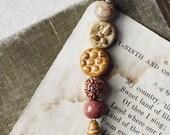 Bee Medley- Handmade ceramic bead set- Bee inspired