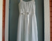 vintage 60s baby blue ballerina nightie sundress xs